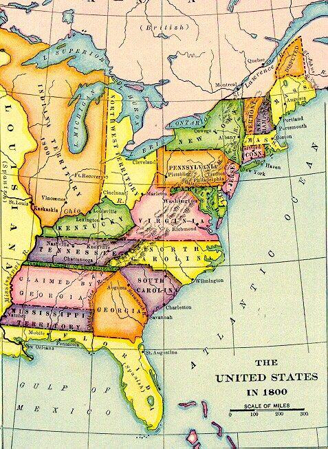 US in 1800