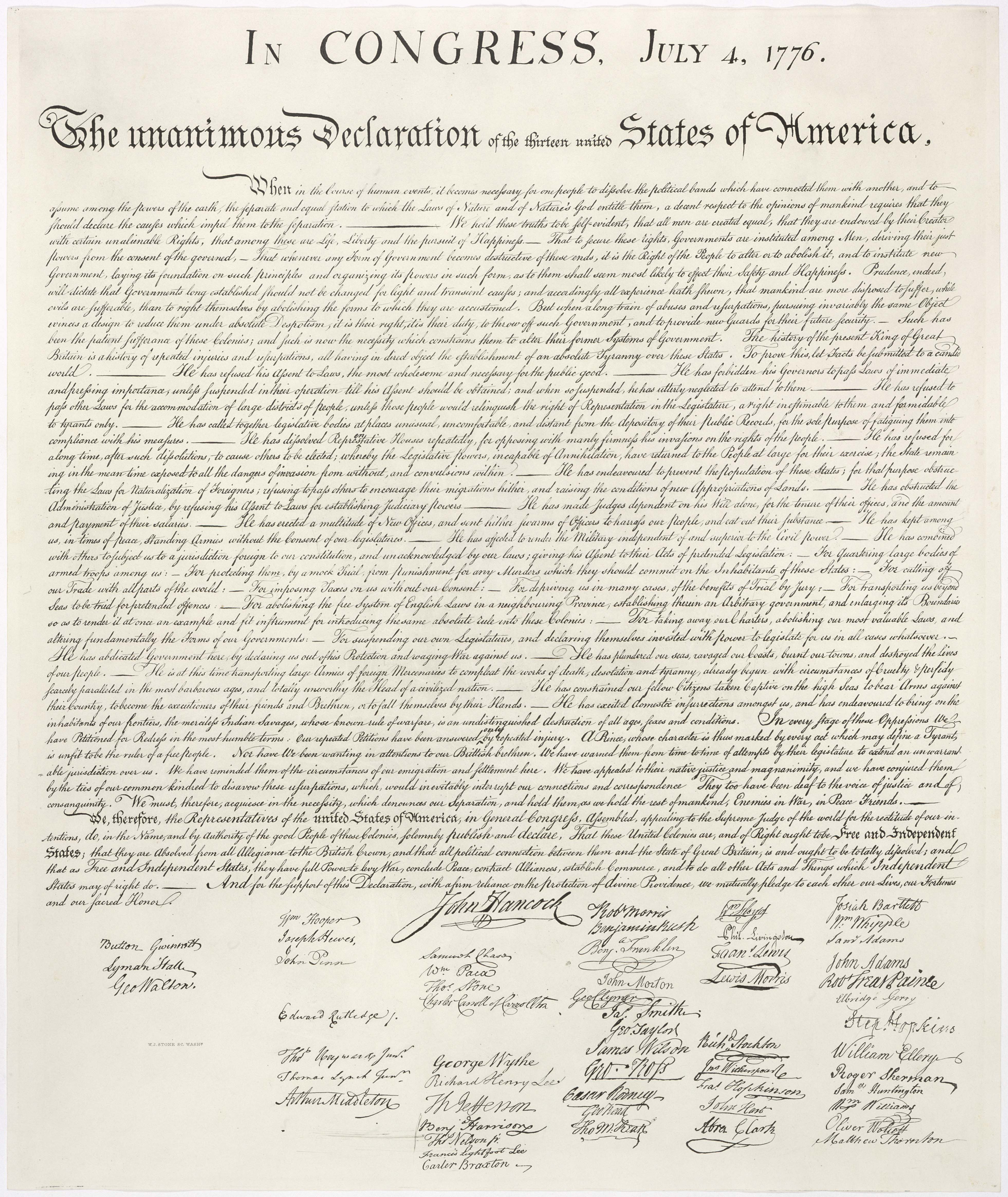 Declaration of Independence Image