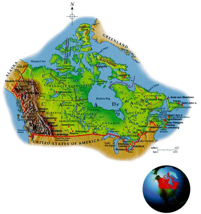 Canada Geo-Political Map