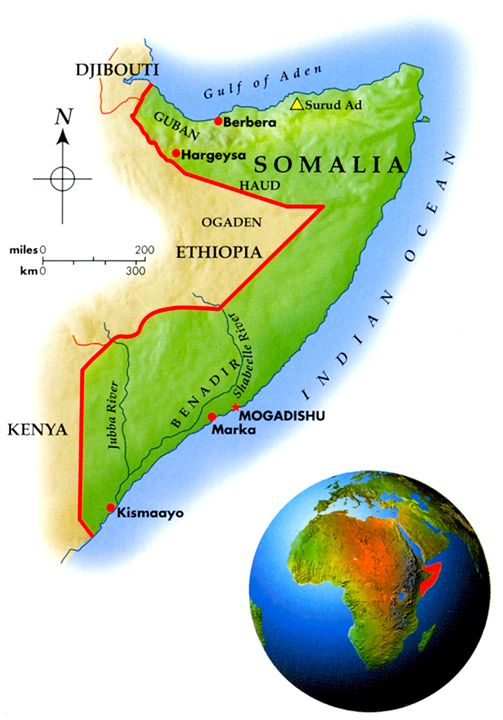 Somalia Geo-Political Map