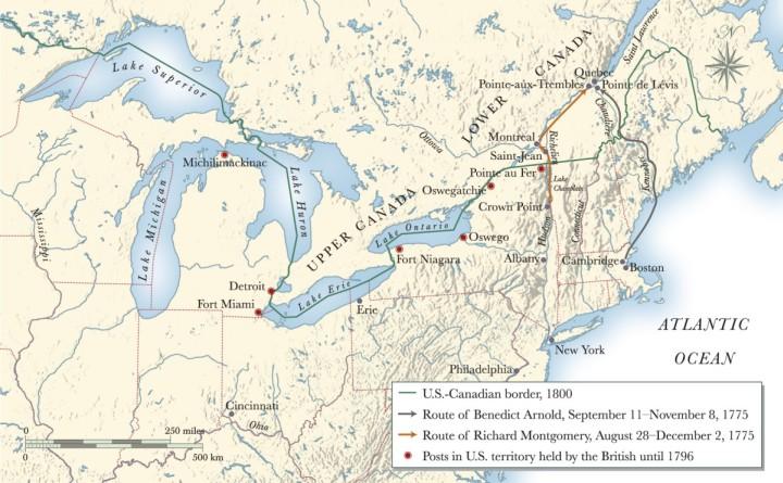 Map Illustrating Battle of Quebec 1775