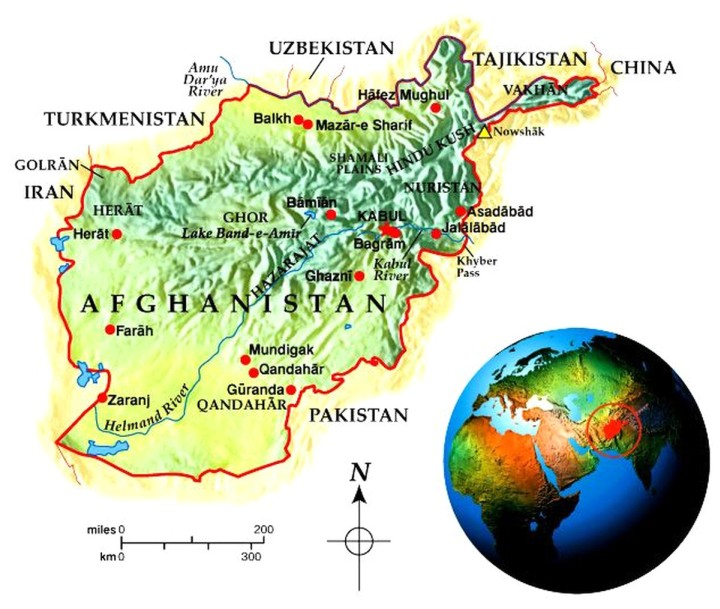 Afghanistan Geo-Political Map