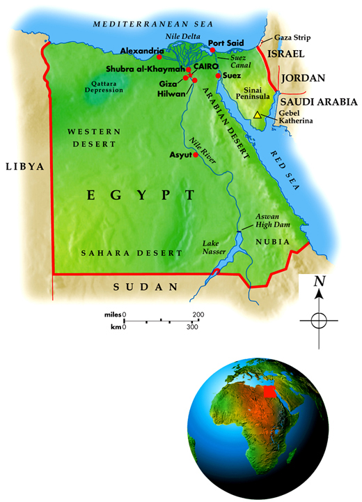 Egypt Geo-Political Map