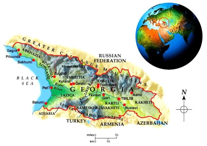 Georgia Geo-Political Map