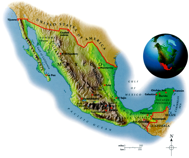 Mexico Geo-Political Map